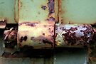 Rusty Tailgate Hinge by RebeccaBlackman