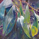 The Gentle Rain Throw Pillow by Lynda Robinson