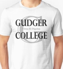 Gudger College (Black & Dark Grey text) T-Shirt