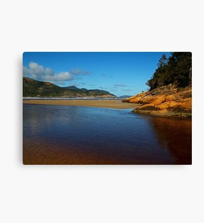 Tidal River Meets the Sea,Wilsons Prom Canvas Print