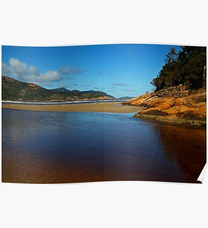Tidal River Meets the Sea,Wilsons Prom Poster