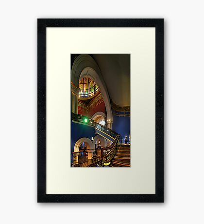 Twisted - QVB, Sydney - The HDR Experience Framed Print