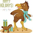 Holiday Beasties: Terror Bird by saralynncreativ
