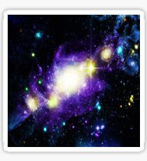 Pegatina Diseño del espacio exterior de la nebulosa Galaxy.