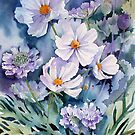 Cosmos and Scabious by Ann Mortimer