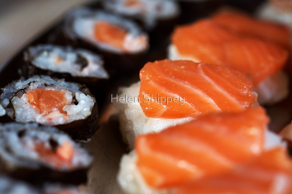 Plate of Sushi by Helen Shippey