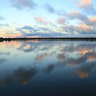 Bibra Lake setting sun - Perth, Western Australia by Karen Stackpole