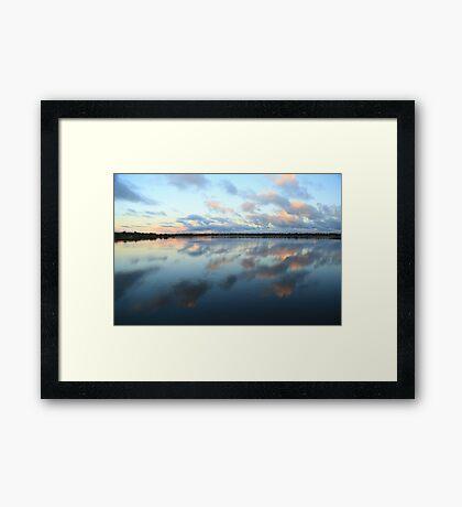Bibra Lake setting sun - Perth, Western Australia Framed Print