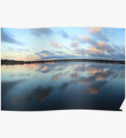 Bibra Lake setting sun - Perth, Western Australia Poster