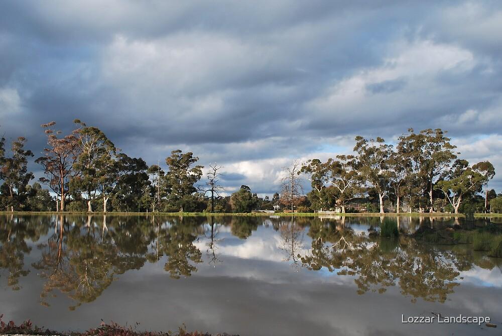 Wintery Reflections by Lozzar Landscape