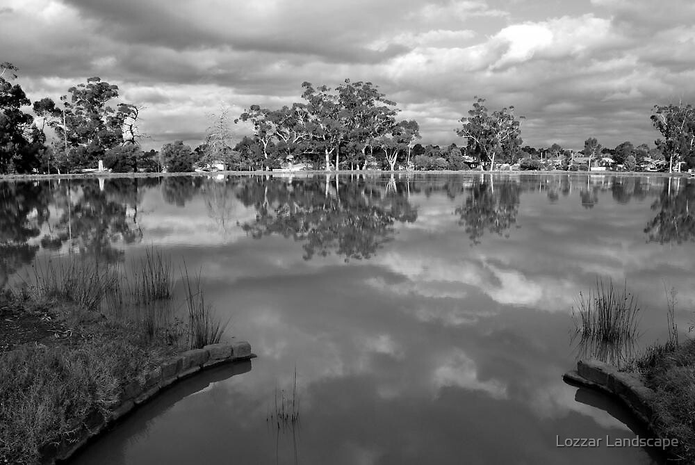 Sculpted Lake View at Neangar by Lozzar Landscape