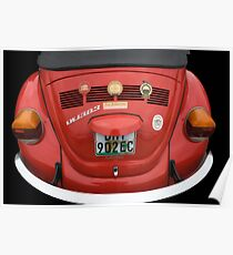 VW RED Poster