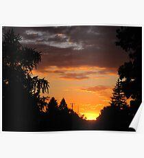 Sunset  Evening Poster