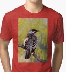 Young Adult Red Wattlebird Tri-blend T-Shirt