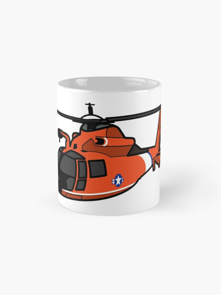 Alternate view of USCG HH65 Helicopter Mug