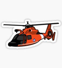 USCG HH65 Helicopter Glossy Sticker