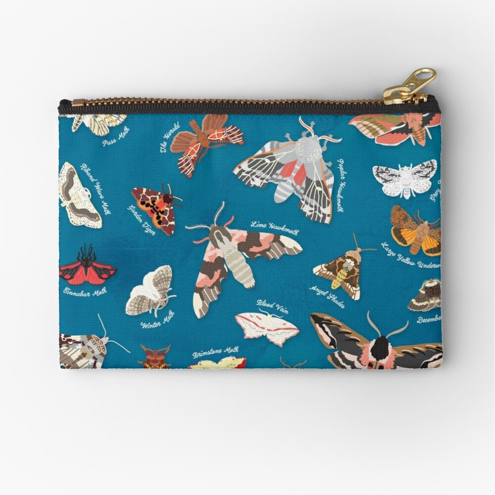 Moths of the United Kingdom Zipper Pouch
