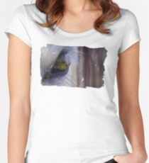 Silver and Green Women's Fitted Scoop T-Shirt