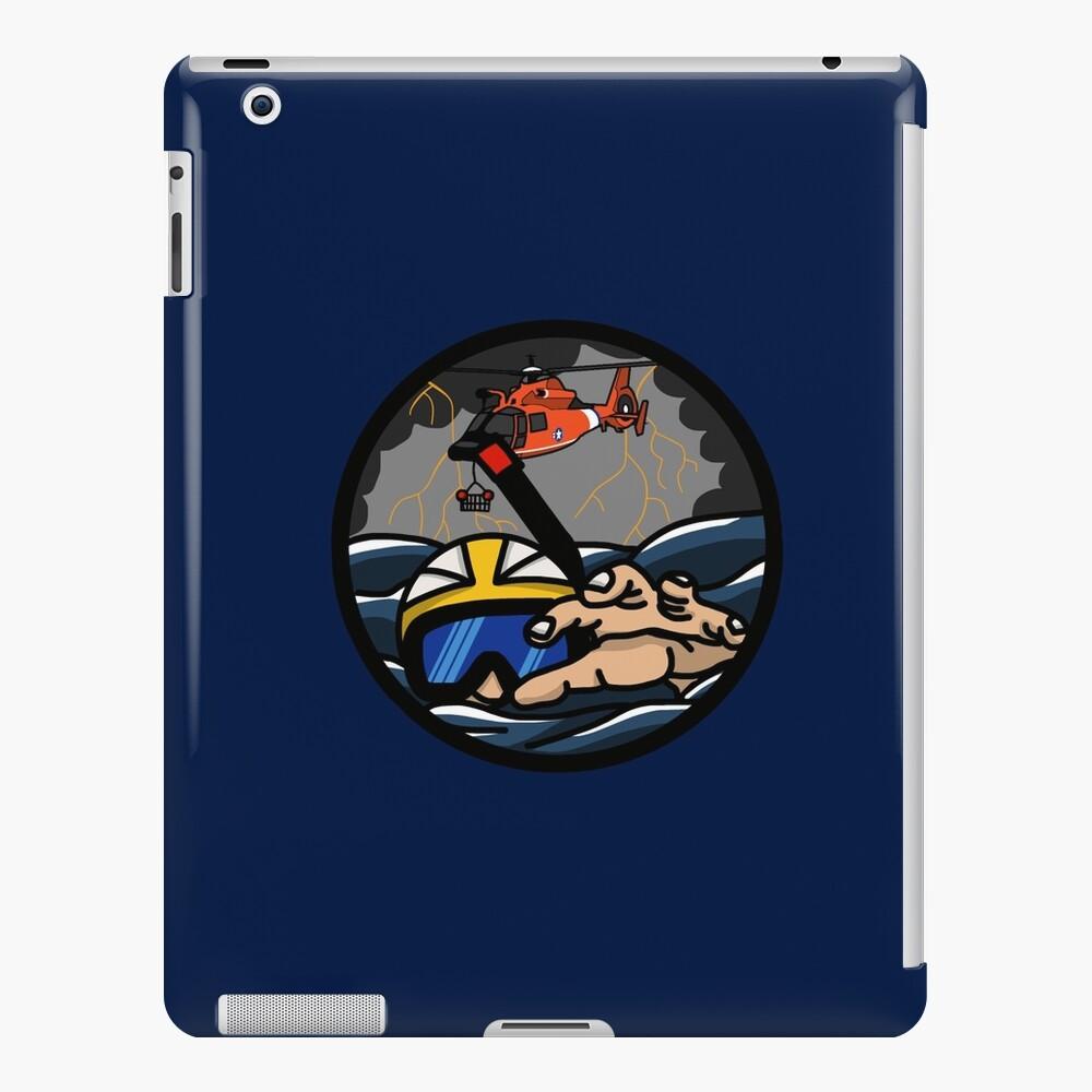 US Coast Guard Rescue Swimmer Storm - HH65 iPad Case & Skin