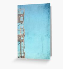 Stairs Going Nowhere Greeting Card