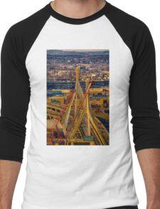 Leonard P. Zakim Bunker Hill Memorial Bridge Men's Baseball ¾ T-Shirt