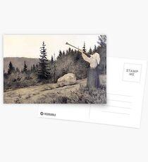Theodor Kittelsen Op under Fjeldet toner en Lur Postkarten