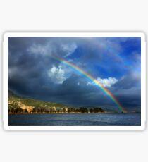 Double rainbow at Kaiafas lake Sticker