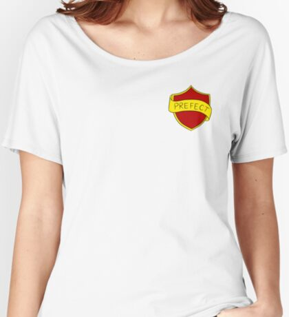Red School Badge Relaxed Fit T-Shirt