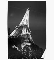 Tour de Eiffel B&W Poster