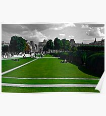 Lawns at the Louvre Poster