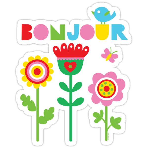 Bonjour - on lights by Andi Bird