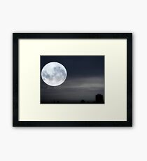 Silvery Moon ©  Framed Print