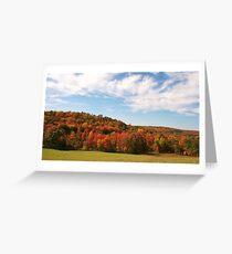 The Hills Around Punxsutawney Greeting Card