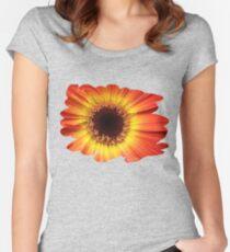 Orange Gerbera Daisy ~ Macro Fitted Scoop T-Shirt