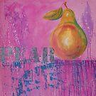 A pink pear by Cath Sheard
