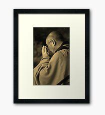 the Dalai Lama. aotearoa, new zealand Framed Print