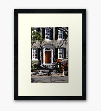 Beautiful House on Meeting Street in Charleston Framed Print