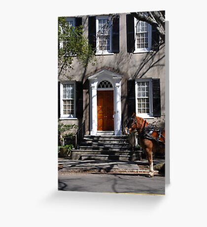 Beautiful House on Meeting Street in Charleston Greeting Card