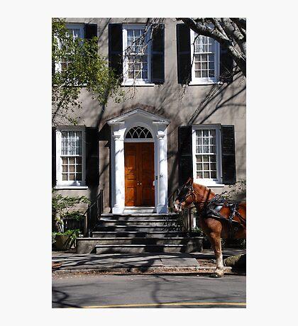 Beautiful House on Meeting Street in Charleston Photographic Print