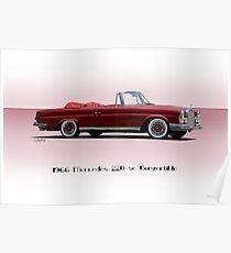 1966 Mercedes 220SE Convertible Poster