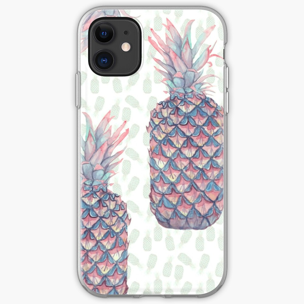 Pineapple pattern iPhone Soft Case