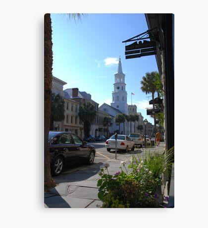 St. Michaels Church on Broad Street in Charleston Canvas Print
