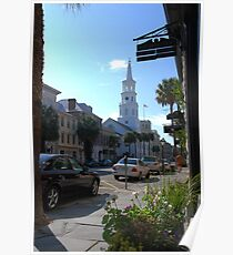 St. Michaels Church on Broad Street in Charleston Poster