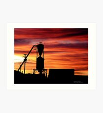 Farm Sunset Art Print