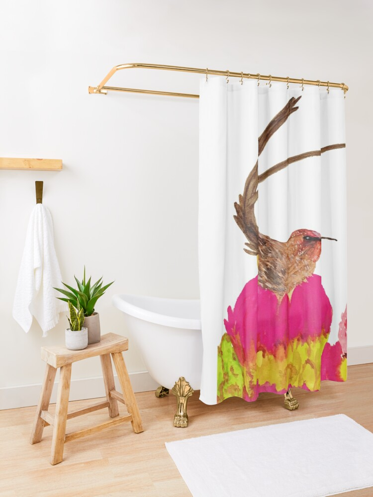 Alternate view of Sugarbird Shower Curtain