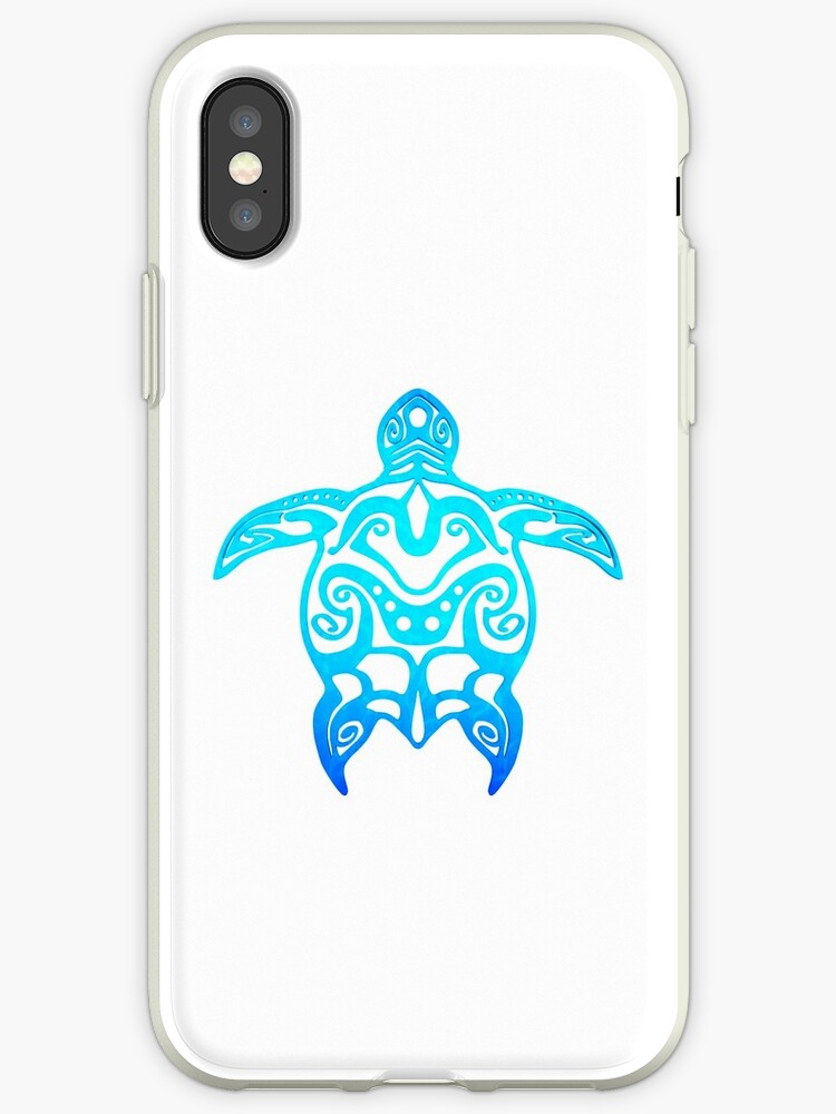 Ocean Blue Tribal Turtle by BailoutIsland