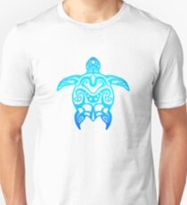 Ocean Blue Tribal Turtle Unisex T-Shirt