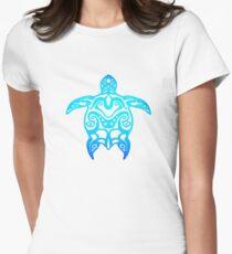 Tortue tribale d'Ocean Blue T-shirt col V femme