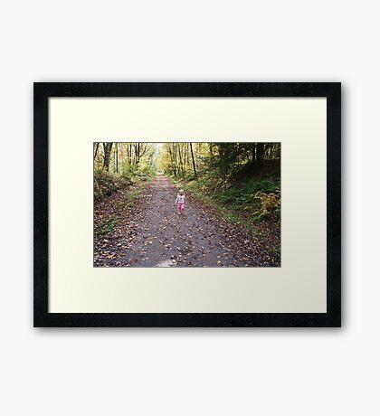 Loving the Walk Framed Print