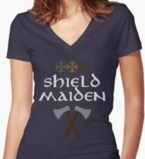 Shield Maiden Women's Fitted V-Neck T-Shirt